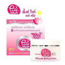 P.O.CARE PINK WHITE MIRACLE 5 DAY CREAM 25g.