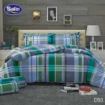 Satin ผ้านวม + ผ้าปูที่นอน ลาย D93 5 ฟุต