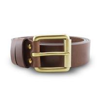 Brown Stone เข็มขัดหนังแท้รุ่น Milano Tan Belt Solid Brass Roller Buckle Size 34