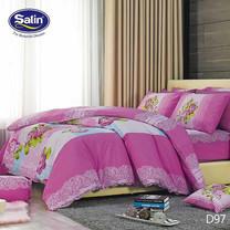 Satin ผ้านวม + ผ้าปูที่นอน ลาย D97 6 ฟุต