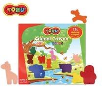 Dong-A Toru Animal Crayon สีเทียนรูปสัตว์ 12 สี