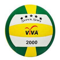 VIVA วอลเลย์บอลหนังอัดแข่งขันอย่างดี SUPER SOFT รุ่น 2000 สีเขียว-ขาว-เหลือง
