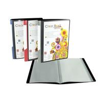 Robin แฟ้มสอดปก CLEAR BOOK 40ไส้ A5 คละสี (แพ็ก 6 ชิ้น)