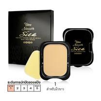 Tellme Smooth and Silk Two Way Powder Cake SPF 20 PA++ (รีฟีล) No.01 สำหรับผิวขาว 14 ก.