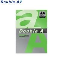 Double A กระดาษสี A4 หนา 80 แกรม (แพ็ก 100 แผ่น) สีเขียวเข้ม (Parrot)