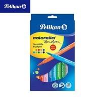 Pelikan ปากกาสีเมจิกหัวพู่กัน 10 สี Colorella Brushpen