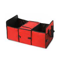 Tanluhu กล่องจัดเก็บของท้ายรถ สีแดง