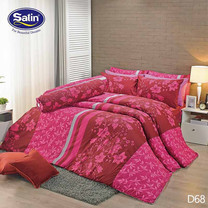 Satin ผ้าปูที่นอน ลาย D68 5 ฟุต