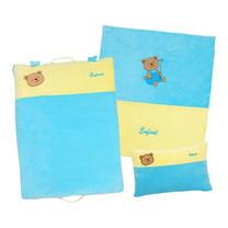 ENFANT ชุดผ้านวม+หมอนหนุน+เบาะนอนสีฟ้า