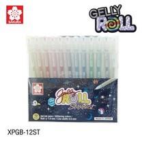 Sakura เซ็ทปากกาเจลลี่โรล รุ่นสตาร์ดัสท์ Gelly Roll Stardust 12 สี