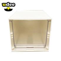 UDEE กล่องลิ้นชักขนาดเล็ก 1 ชั้น (ลิ้นชักใส) ขาว