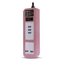 ELECTON สายพ่วง ปลั๊ก ULTRA FAST CHARGE USB X5 1 สวิตช์ 5 เมตร รุ่น EP-A05U5 สีชมพู
