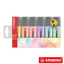 STABILO Boss Pastel ชุดปากกาเน้นข้อความ Boss in Wallet (แพ็ก 6 สี)