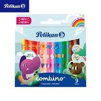 Pelikan ปากกาสีเมจิกด้ามใหญ่ 9 สี Combino