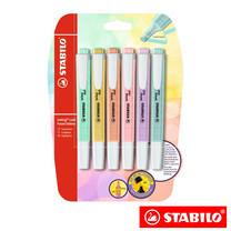 STABILO Swing Cool Pastel in Blister ปากกาเน้นข้อความ สีพาสเทล (แพ็ก 6 สี)