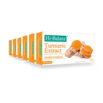 Hi-Balanz สารสกัดจากขมิ้นชัน 30 แคปซูล แพ็ก 6 กล่อง