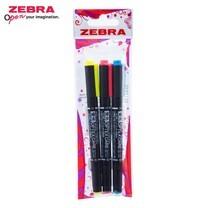 Zebra Optex Care ปากกาเน้นข้อความ 2 หัว WKCR1-3B (แพ็ก 3 ด้าม)