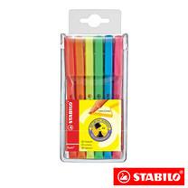 STABILO Boss Flash ชุดปากกาเน้นข้อความ (แพ็ก 6 สี)