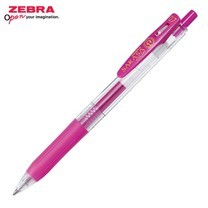 Zebra ปากกาหมึกเจล Sarasa Clip 0.7 มม. JJB15-MZ หมึกสีชมพูบานเย็น (12 ด้าม/กล่อง)