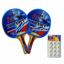 VIVA เซ็ต ไม้เทเบิลเทนนิส รุ่น 2 ดาว 1 คู่ และลูกเทเบิลเทนนิส 40 มม. 1 แพ็ก