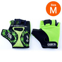 Thai Sports ถุงมือจักรยาน CG-3001 GREEN วัสดุผ้า LYCRA มีเจลซัพพอร์ต Size M