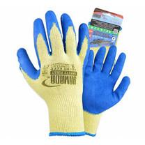 "YAMADA ถุงมือคอตตอนเคลือบยางธรรมชาติ 9"" รุ่น 9041 สีน้ำเงิน"