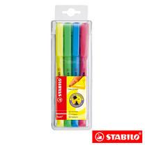 STABILO Boss Flash ชุดปากกาเน้นข้อความ (แพ็ก 4 สี)