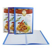 Robin แฟ้มเมนูอาหาร 10ไส้ A4 สอดข้าง คละสี (แพ็ก 3 ชิ้น)