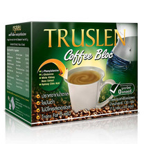 TRUSLEN COFFEE BLOC กาแฟเพื่อสุขภาพ เพิ่มสารสกัดจากถั่วขาว ขนาด 130 ก. บรรจุ 10 ซอง