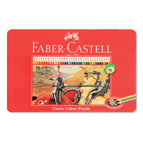 Faber Castell 36 Classic Colour Pencils in Metal Tin Box