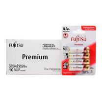 Fujitsu ถ่านอัลคาไลน์ Premium รุ่น LR6(4B)FP Size AA กล่อง 4x10
