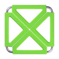 Q Line ที่วางของร้อนซิลิโคน KW-901/1 (3 ชิ้น) Green