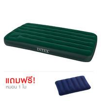 Intex ที่นอนเป่าลม Camping แบบมีที่สูบลมใช้เท้าเหยียบฝังในตัวเตียงเดี่ยว Twin 3.5 ฟุต ฟรี หมอน 1 ใบ