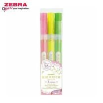 Zebra Kirarich ปากกาเน้นข้อความกากเพชร 3 สี (แพ็ก 3 ด้าม)