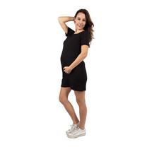 Bambino Materna ชุดคลุมท้องเดรสสั้น สีดำ