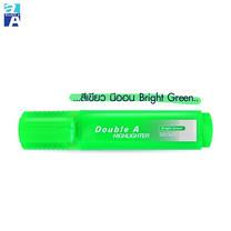 Double A ปากกาเน้นข้อความ รุ่น Flat Highlighter Bright (กล่อง 10 ด้าม) สีเขียว