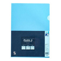 Double A L-Shaped File A4 Blue Silver Stamp ( แพ็ก 12)