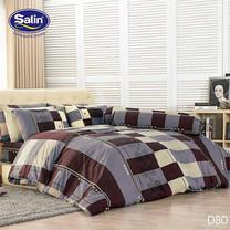 Satin ผ้านวม + ผ้าปูที่นอน ลาย D80 6 ฟุต
