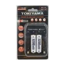 Toriyama แท่นชาร์จ + ถ่านชาร์จ รุ่น AA1200 แพ็ก 2