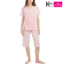 Kullastri KBra ชุดนอนผ้า Top Dye ใส่เป็นชุดลำลองได้ รุ่น SNTSH1PPI สีชมพู Free Size