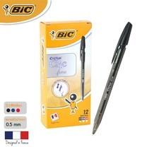 BIC ปากกาลูกลื่น Cristal Clic 0.8 มม. (12 ด้าม/กล่อง) สีดำ
