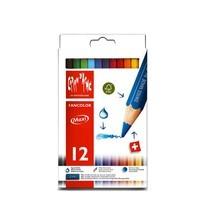 Caran D'Ache ดินสอสีแท่งจัมโบ้ 12 สี Fancolor
