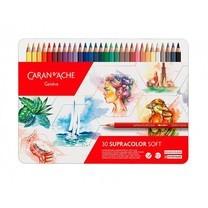 Caran D'Ache ชุดสีไม้ระบายน้ำ Supracolor Soft ฉลองครบรอบ 30 ปี 30 สี Limited Edition