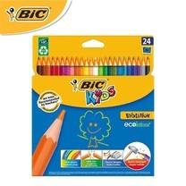 BIC Kids (1 แถม 1) ดินสอสีไม้ Evolution 24 สี