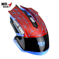 MD-TECH Optical Mouse USB K-903 Red/Black