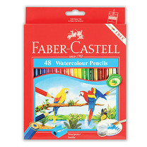 Faber Castell 48 Watercolour Pencils in Paper Box