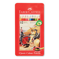 Faber Castell 12 Classic Colour Pencils in Metal Tin Box