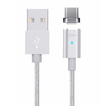 Hoco Magnetic Charging Cable Type-C U16 Silver