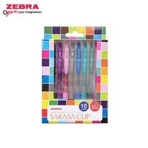 Zebra ชุดปากกาหมึกเจล Sarasa Clip 0.5 มม. JJ15-10C SET 2 (แพ็ก 10 ด้าม)
