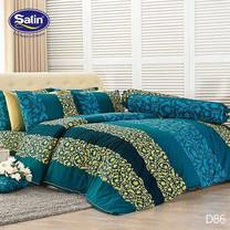 Satin ผ้านวม + ผ้าปูที่นอน ลาย D86 5 ฟุต